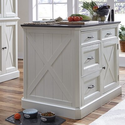 Ryles Kitchen Island with Engineered Quartz Top
