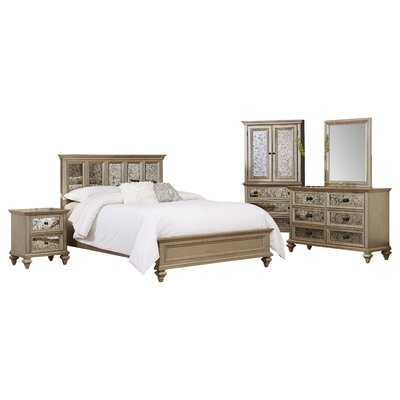 Visions Panel 5 Piece Bedroom Set Size: Queen