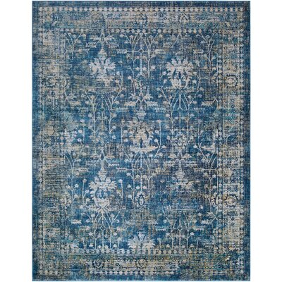 Ipasha Navy/Khaki Area Rug Rug Size: Rectangle 710 x 103