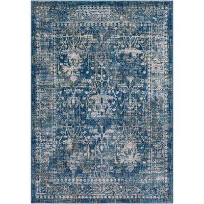 Ipasha Navy/Khaki Area Rug Rug Size: Rectangle 2 x 3