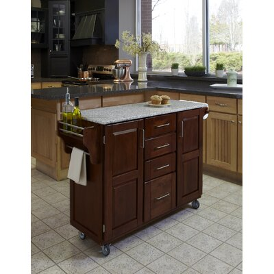 cherry kitchen island cart saltpepper granite 9100 1073