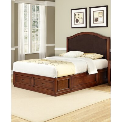 Home Styles Duet Platform Queen Camelback Bed - Brown Microfiber