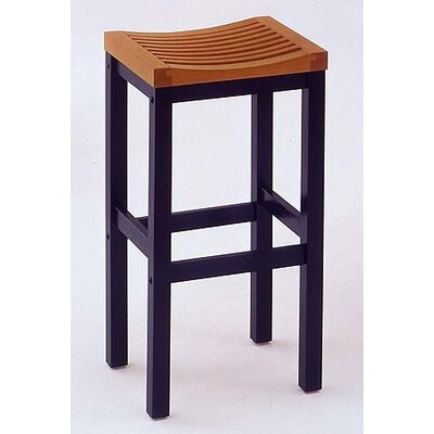"Financing 29"" Black Contour Stool w/ Oak..."