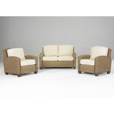Cabana Banana 3 Piece Living Room Set Upholstery: Honey