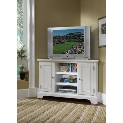 "Home Styles Bedford 50"" Corner TV Stand - Finish: White at Sears.com"