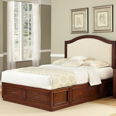 In store financing Duet King Camelback Platform Bed Co...