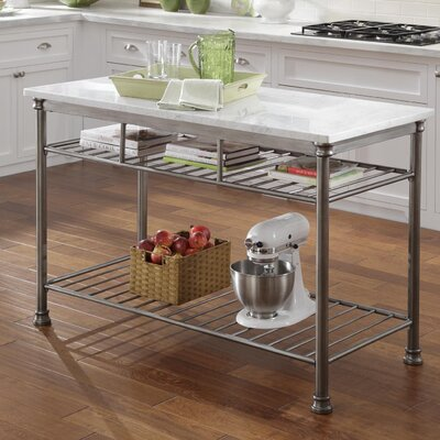 Marble Top Portable Kitchen Islands and Kitchen Carts ...