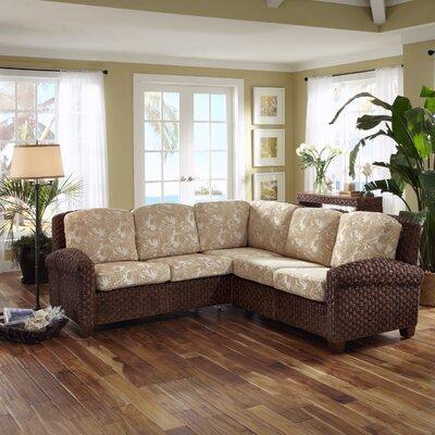 Cabana Banana II Sectional Upholstery: Cinnamon