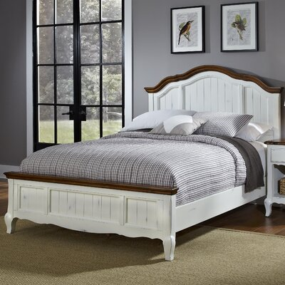 French Countryside Panel Bed Size: Full / Queen, Finish: White