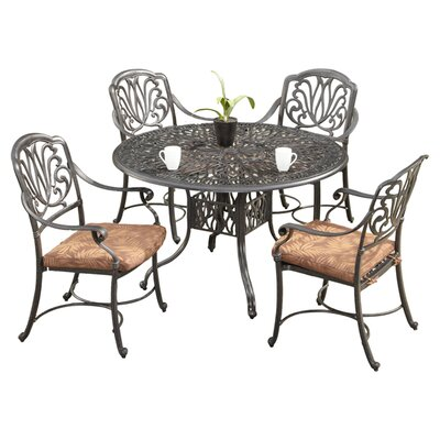 "Home Styles Floral Blossom 5 Piece Dining Set with Cushions - Size: 48"" Table at Sears.com"