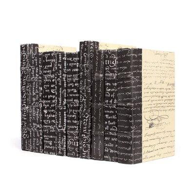 8 Piece Script Decorative Book Set