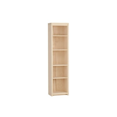 "Thompson 72"" Standard Bookcase Wood Veneer: Painted Eco-MDF, Finish: Orange"