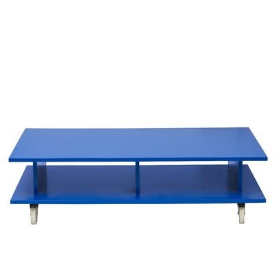Media Coffee Table Wood Veneer: Painted Eco-MDF, Finish: Turquoise