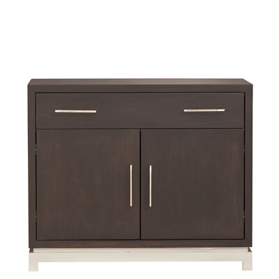 Classic Contemporary 1 Drawer Nightstand Color: Bleached, Wood Veneer: Walnut