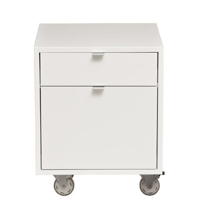High Line 2-Drawer Mobile Vertical File Wood Veneer: Painted Eco-MDF, Finish: White