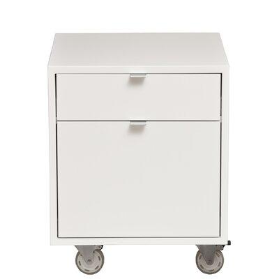 Urbangreen High Line 2-Drawer File Cabinet - Wood Veneer: Cherry, Finish: Autumn at Sears.com