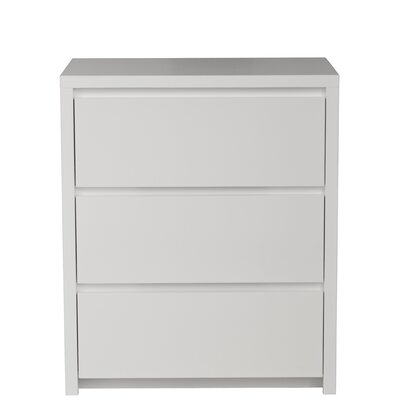Thompson 3 Drawer Bachelors Chest Wood Veneer: Painted Eco-MDF, Finish: Grey