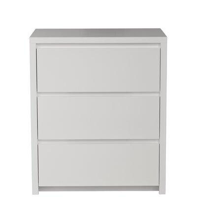 Urbangreen Thompson 3 Drawer Nightstand - Wood Veneer: Maple, Finish: Amber