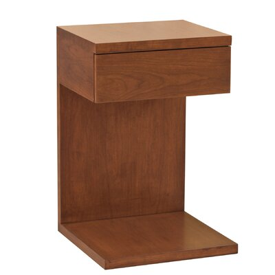 Thompson End Table Wood Veneer: Painted Eco-MDF, Finish: Red