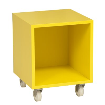Media Cube Unit Bookcase Wood Veneer: Painted Eco-MDF, Finish: Yellow