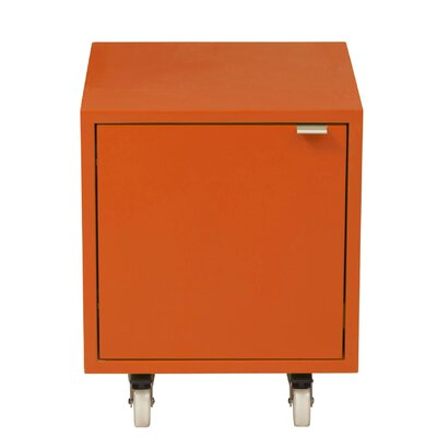 Media Multimedia Cabinet Wood Veneer: Painted Eco-MDF, Color: Red