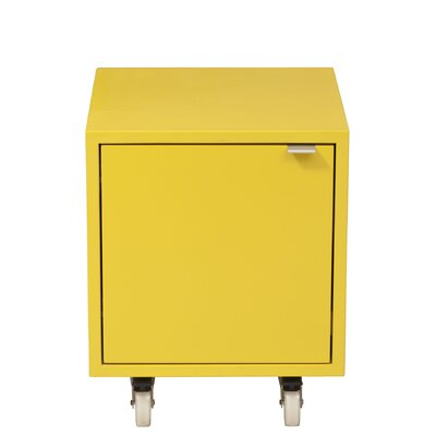 Media Multimedia Cabinet Wood Veneer: Painted Eco-MDF, Color: Yellow