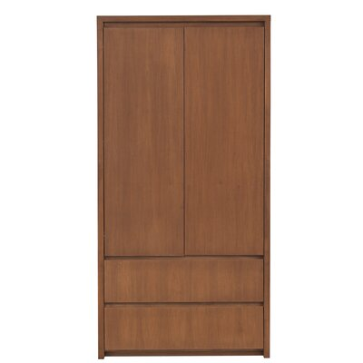 Thompson Armoire Wood Veneer: Walnut, Finish: Toffee