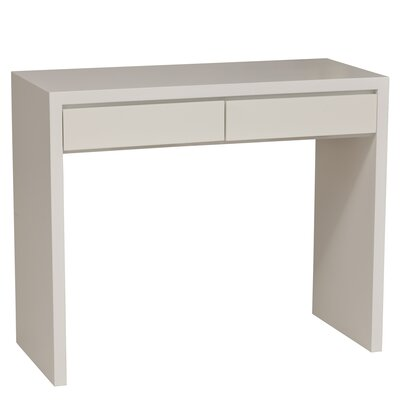 Thompson Console Table Wood Veneer: Maple, Finish: Slate