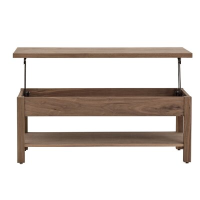 Arwood Unfolding Coffee Table Color: MDF Red