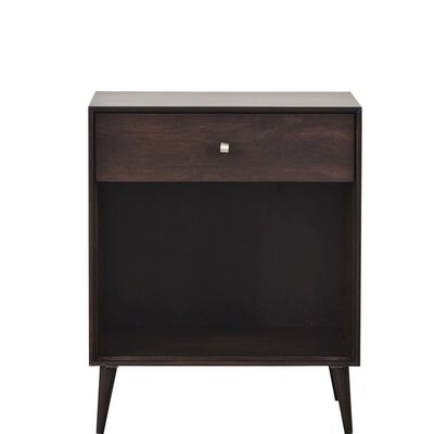 Marlin Modern Nightstand Color: MDF Red