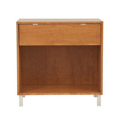 Southville Large Nightstand in Color: Walnut Clear