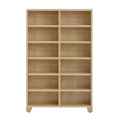 CD Storage Multimedia Cabinet with 6 Tiers Color: Maple Unfinished