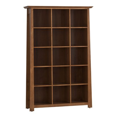 LP Record Multimedia Cabinet with 5 Tiers Color: Maple Slate
