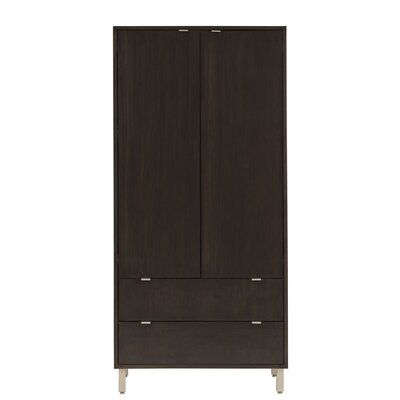 Southville Armoire Wood Veneer: Maple, Finish: Yellow