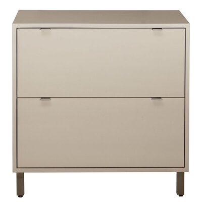 High Line 2 Drawer File Cabinet Wood Veneer: Painted Eco-MDF, Finish: Grey