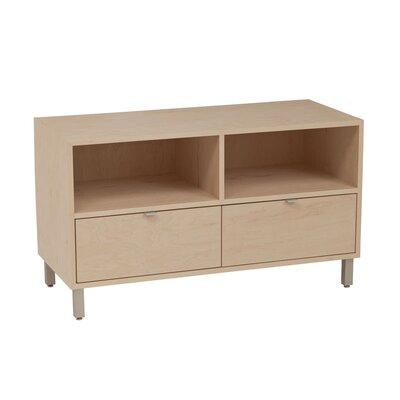 Southville 42 TV Stand Wood Veneer: Maple, Color: Slate