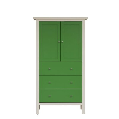 Hudson Armoire Wood Veneer: Painted Eco-MDF, Finish: Green