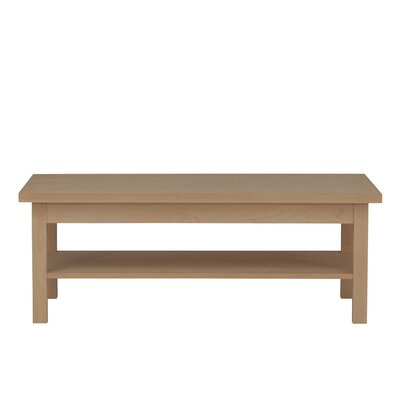 Hudson Coffee Table Wood Veneer: Walnut, Color: Unfinished