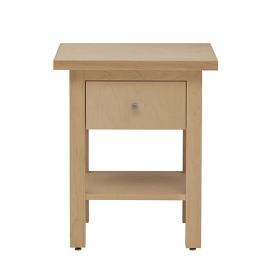 Hudson End Table Wood Veneer: Cherry, Finish: Unfinished