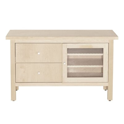 Hudson 45 TV Stand Wood Veneer: Cherry, Color: Clear