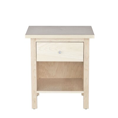 Hudson 1 Drawer Nightstand Wood Veneer: Cherry, Color: Clear