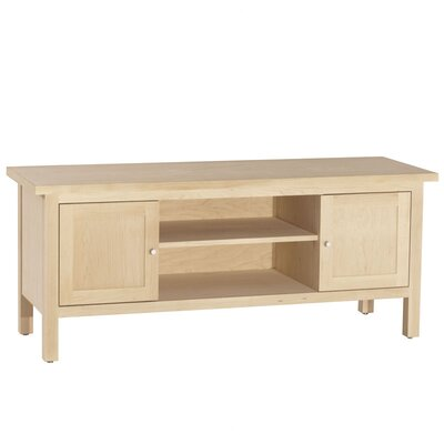 Hudson TV Stand Wood Veneer: Maple, Finish: Unfinished