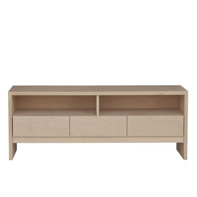 Thompson 60 TV Stand Wood Veneer: Painted Eco-MDF, Color: White