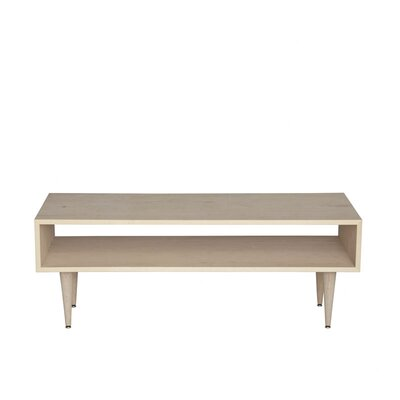Midcentury Coffee Table Wood Veneer: Painted Eco-MDF, Color: White