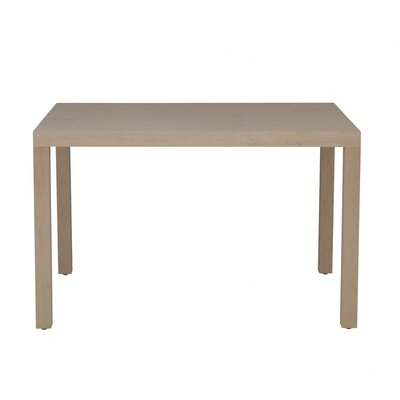 Parsons Dining Table Wood Veneer: Walnut, Finish: Bleached