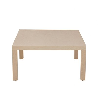 Parsons Coffee Table Wood Veneer: Painted Eco-MDF, Color: White