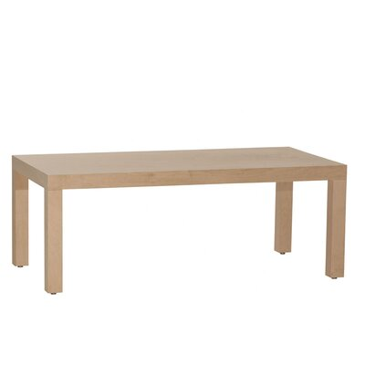 Parsons Coffee Table Wood Veneer: Walnut, Color: Clear