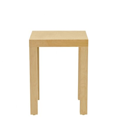 Parsons End Table Wood Veneer: Cherry, Finish: Unfinished