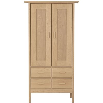 Smith Armoire Wood Veneer: Walnut, Finish: Unfinished
