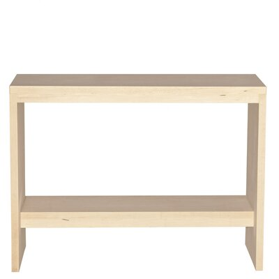 Thompson Console Table Wood Veneer: Maple, Finish: Ebony